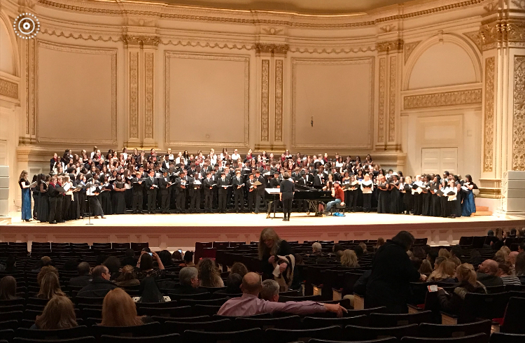 Our vocal student sang at Carnegie Hall last week!