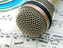 Mic and Sheet Music